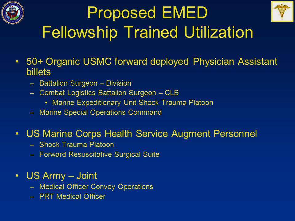 Proposed EMED Fellowship Trained Utilization