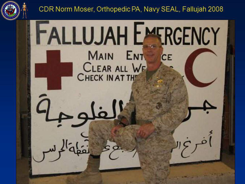 CDR Norm Moser, Orthopedic PA, Navy SEAL, Fallujah 2008