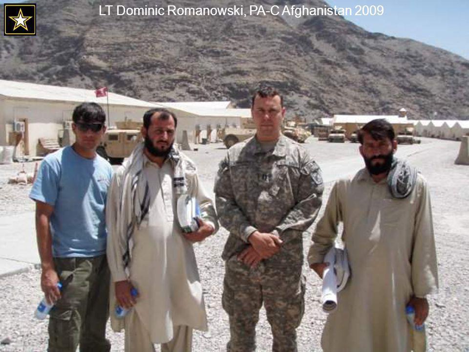 LT Dominic Romanowski, PA-C Afghanistan 2009
