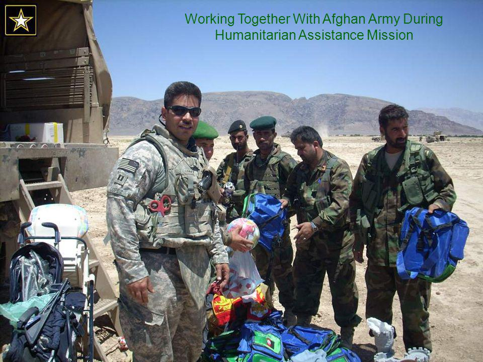 Working Together With Afghan Army During Humanitarian Assistance Mission