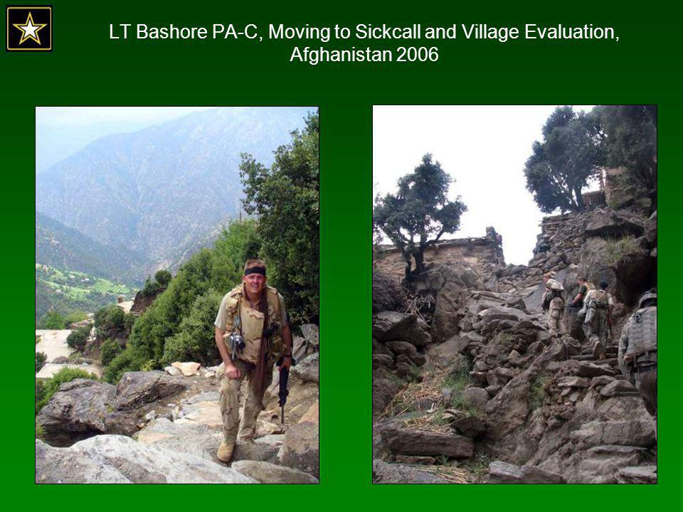 LT Bashore PA-C, Moving to Sickcall and Village Evaluation, Afghanistan 2006