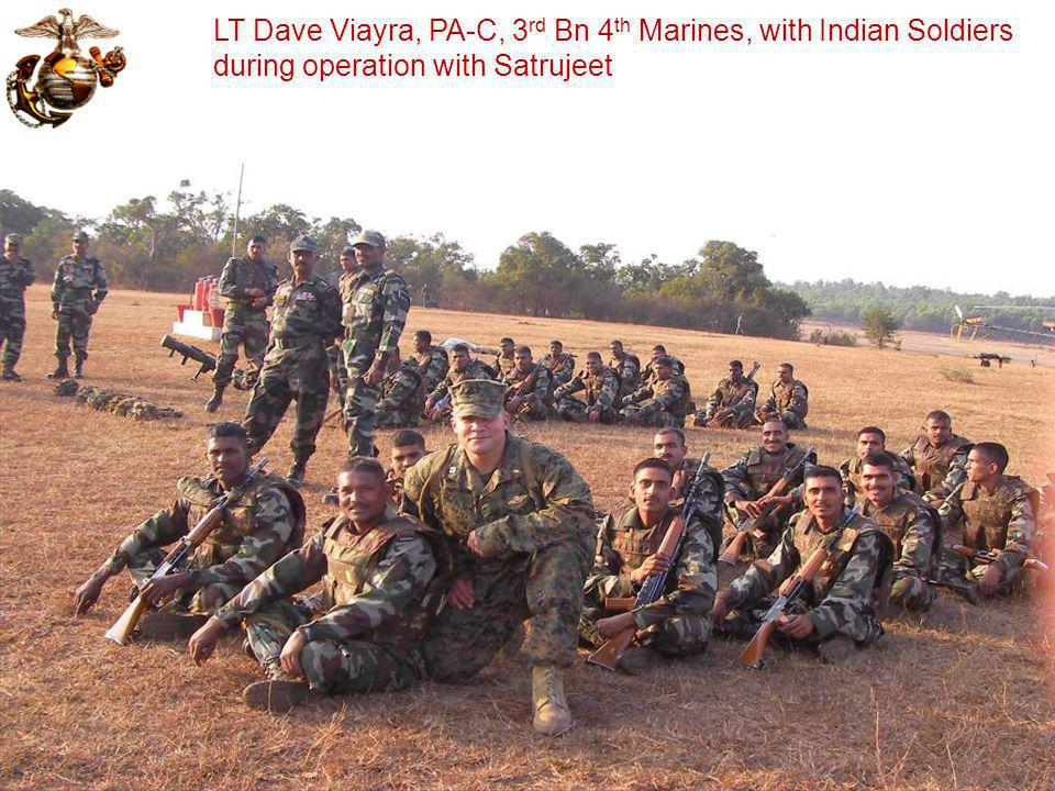 LT Dave Viayra, PA-C, 3rd Bn 4th Marines, with Indian Soldiers during operation with Satrujeet