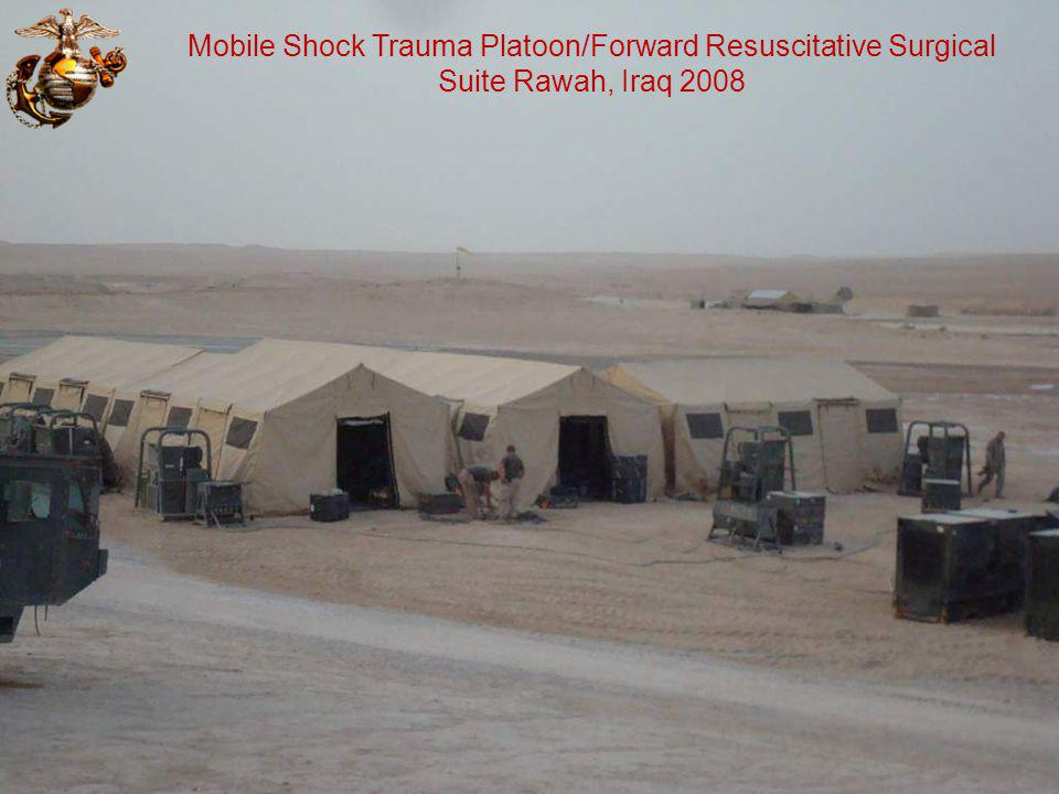 Mobile Shock Trauma Platoon/Forward Resuscitative Surgical Suite Rawah, Iraq 2008