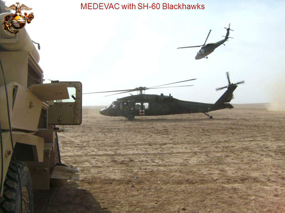 MEDEVAC with SH-60 Blackhawks