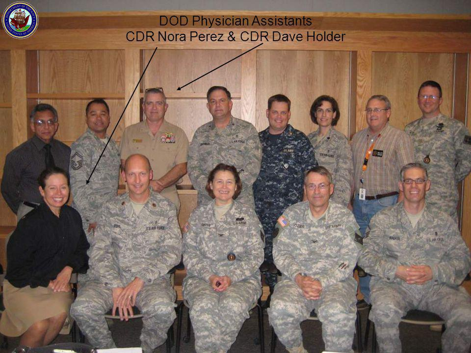 DOD Physician Assistants CDR Nora Perez & CDR Dave Holder