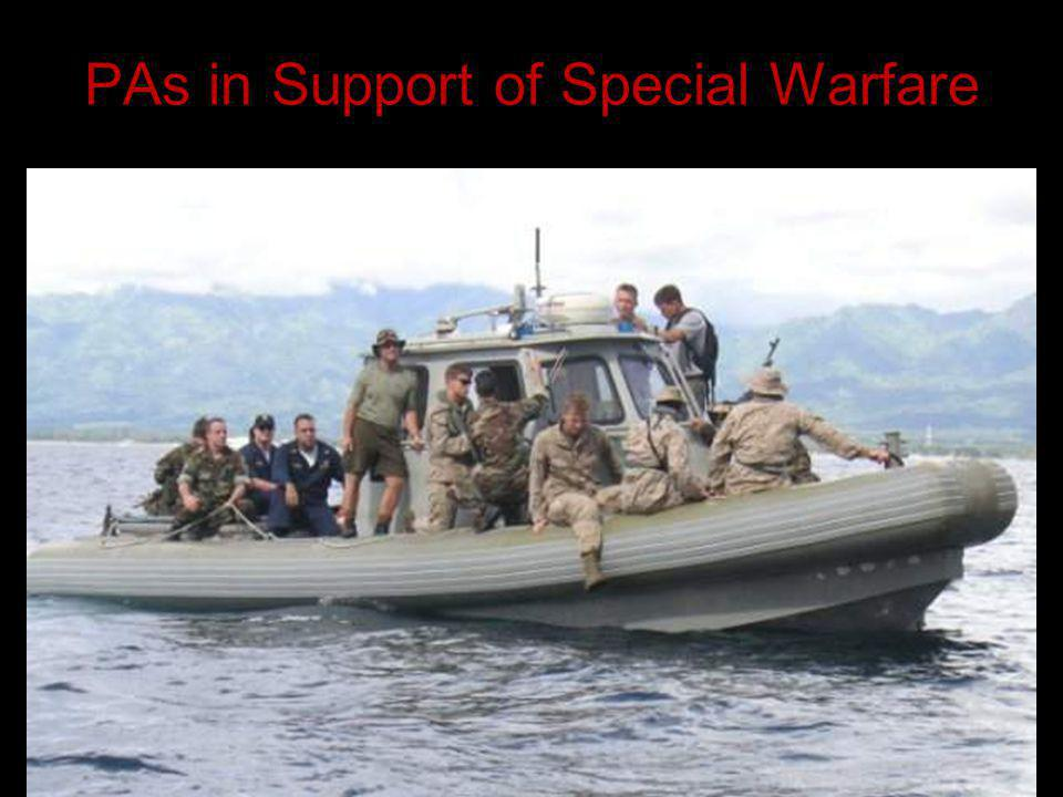 PAs in Support of Special Warfare