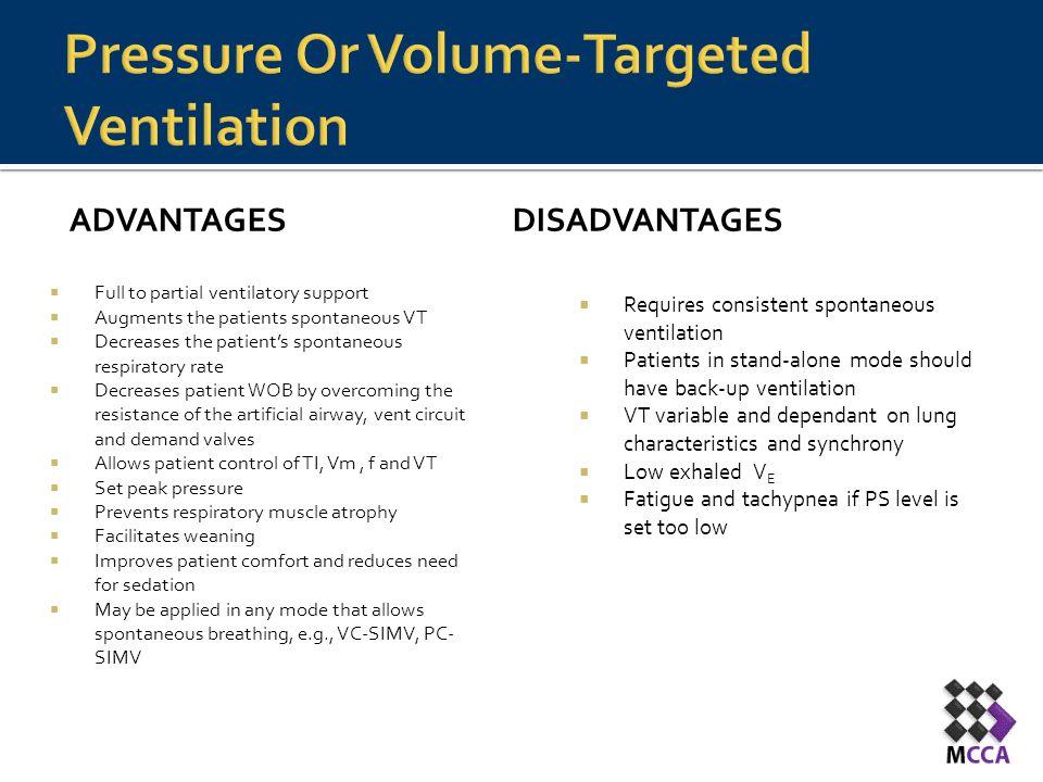 Pressure Or Volume-Targeted Ventilation