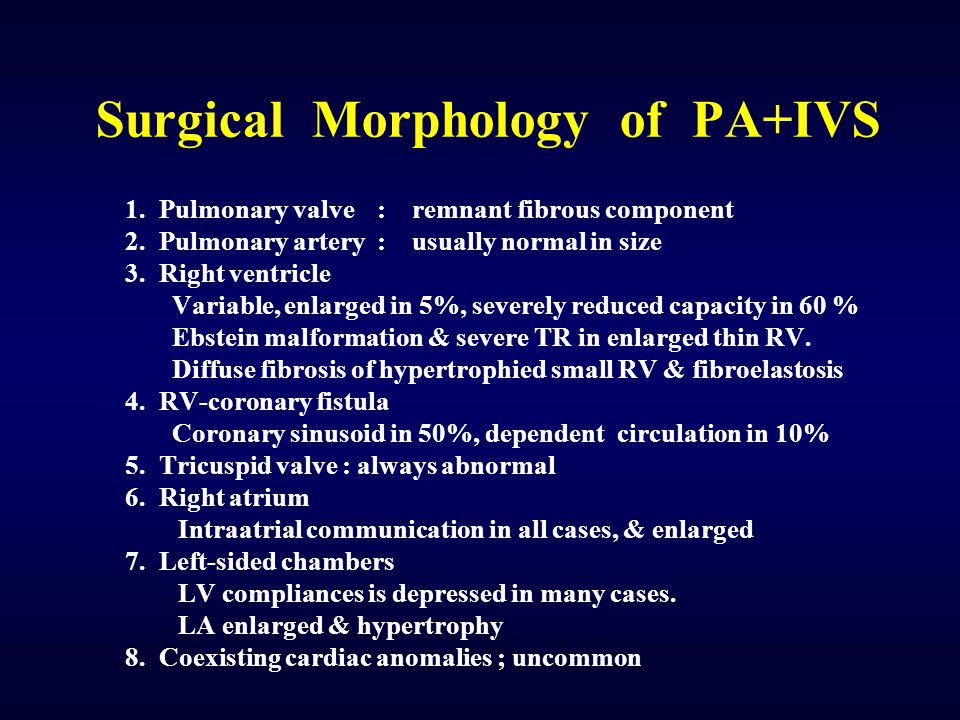 Surgical Morphology of PA+IVS