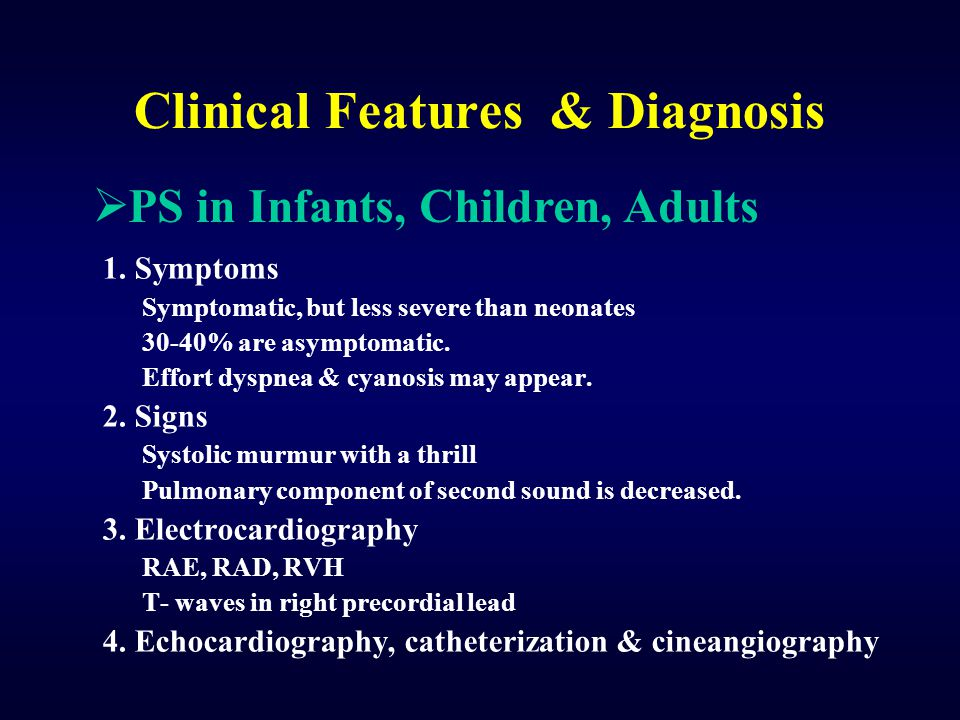 Clinical Features & Diagnosis