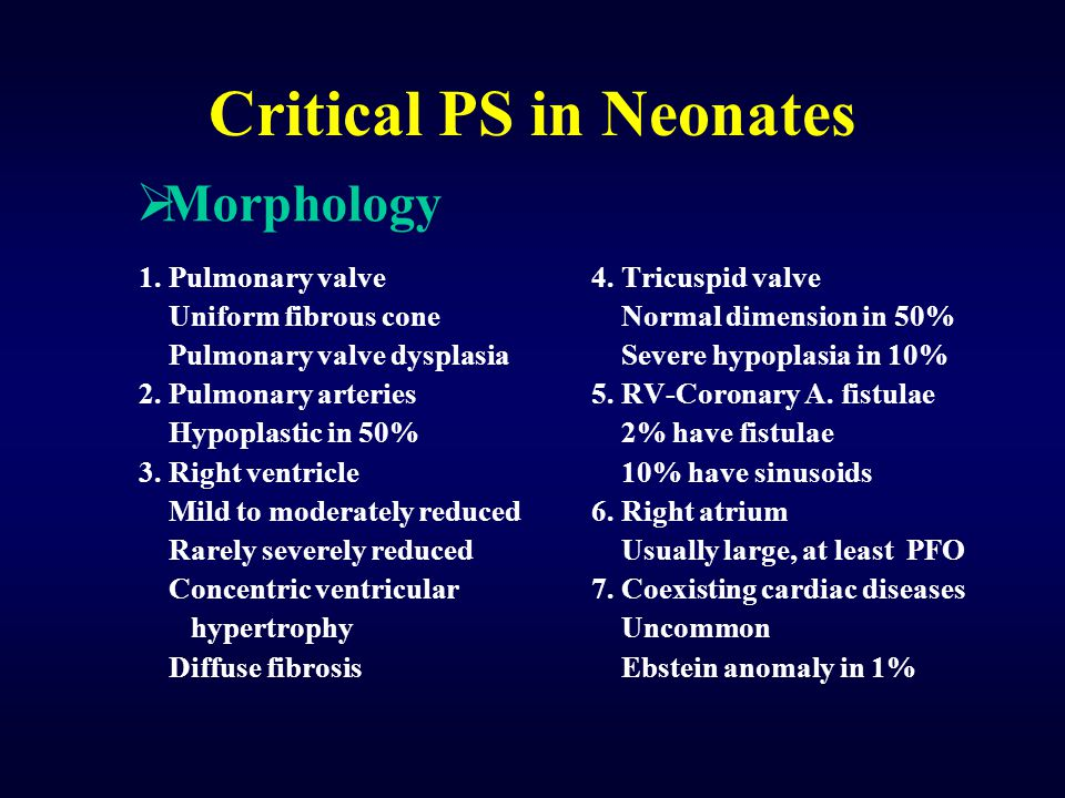Critical PS in Neonates