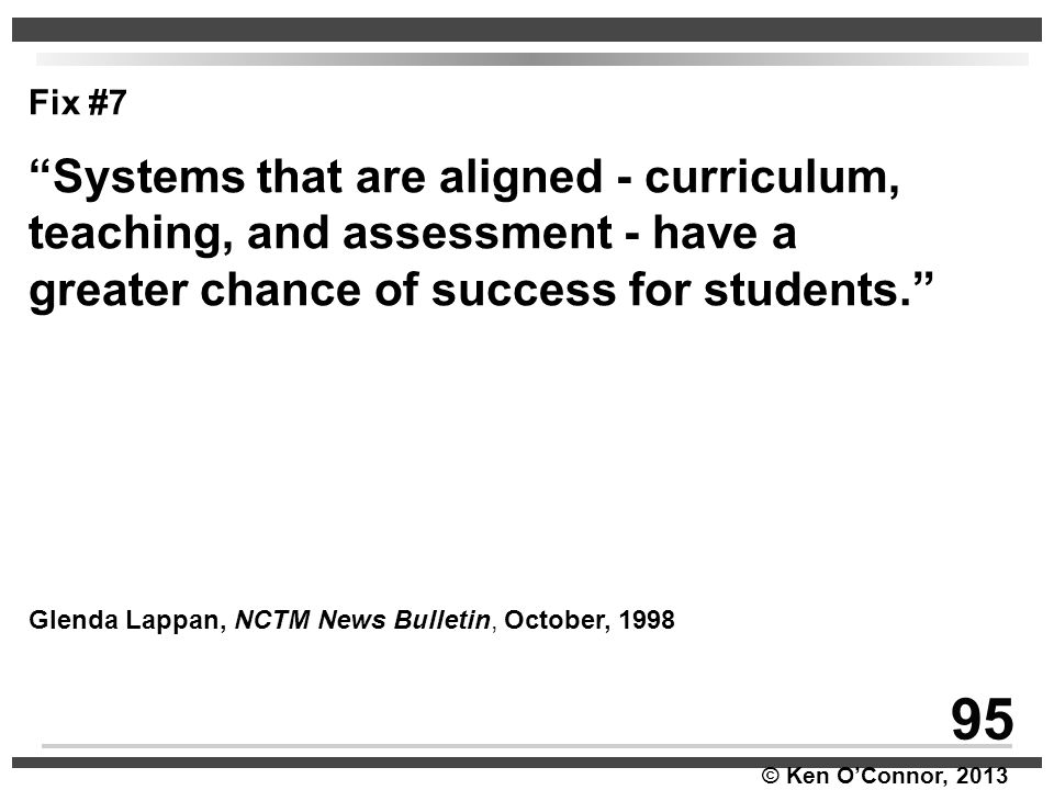 95 Systems that are aligned - curriculum,