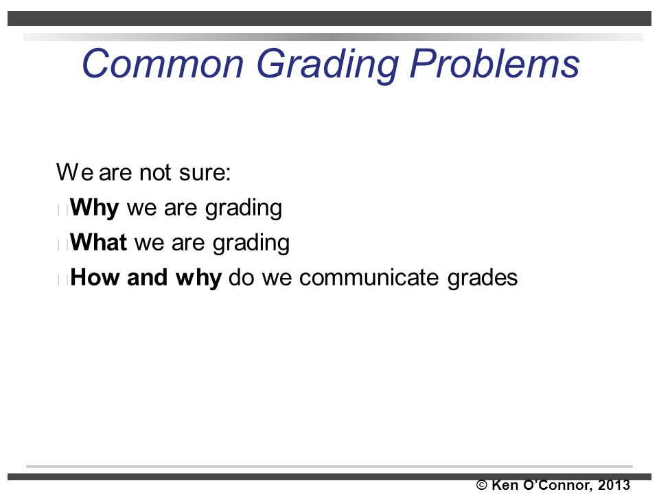 Common Grading Problems