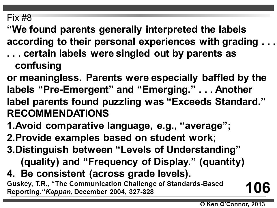 106 We found parents generally interpreted the labels