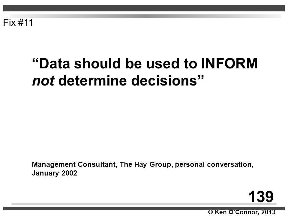 139 Data should be used to INFORM not determine decisions Fix #11