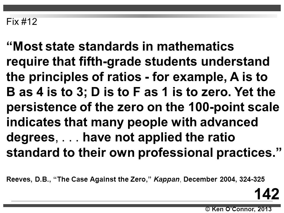 142 Most state standards in mathematics