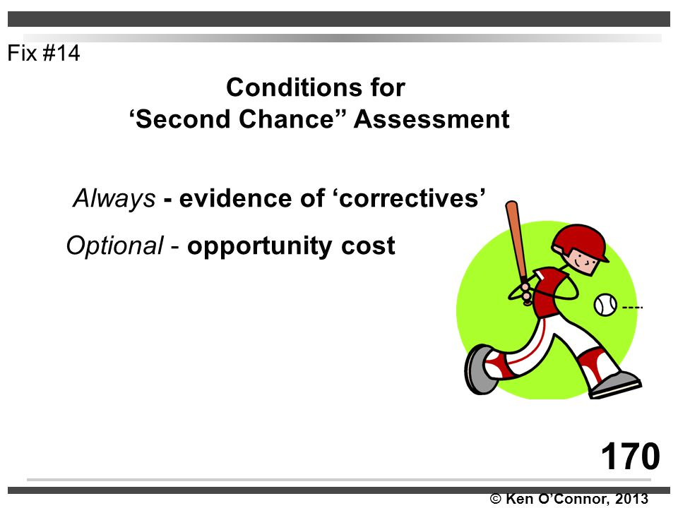'Second Chance Assessment