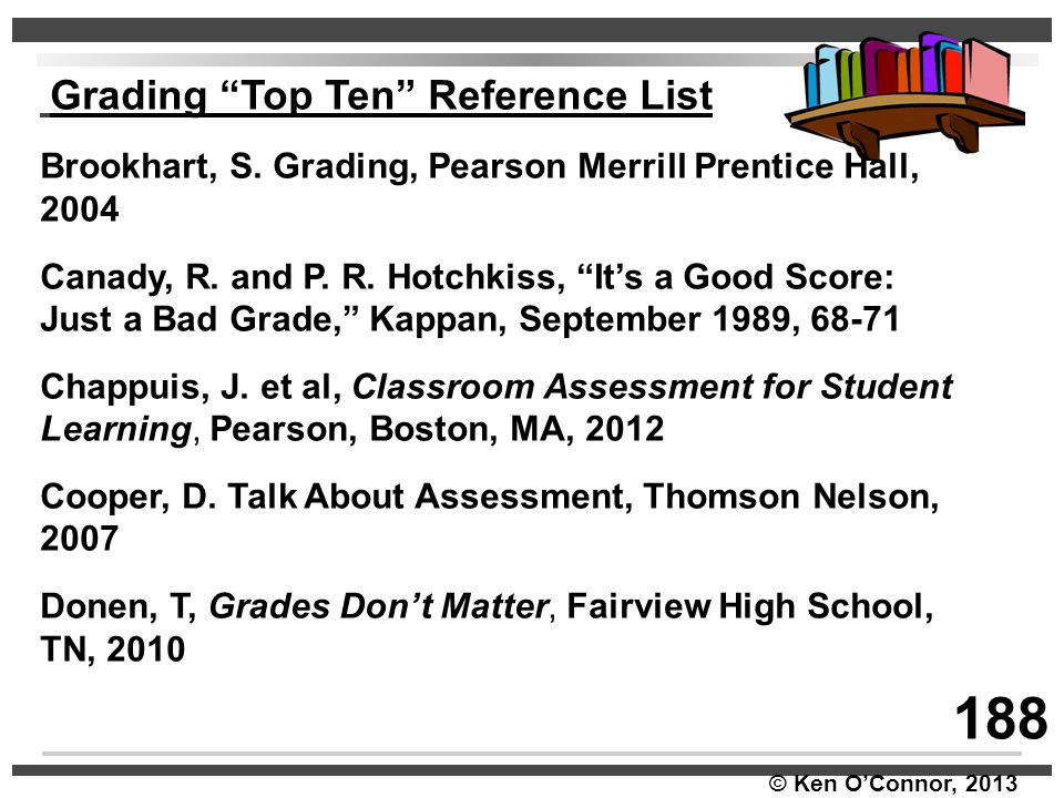 188 Grading Top Ten Reference List