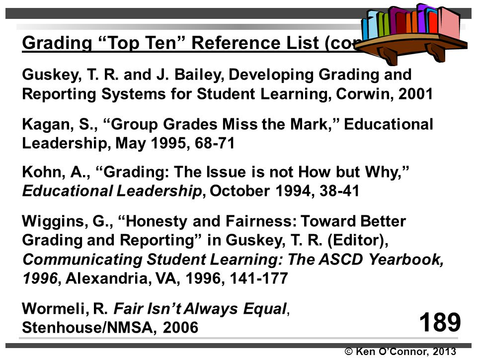 189 Grading Top Ten Reference List (cont.)