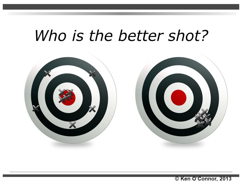 Who is the better shot * Turn and Talk: Who is the better shot