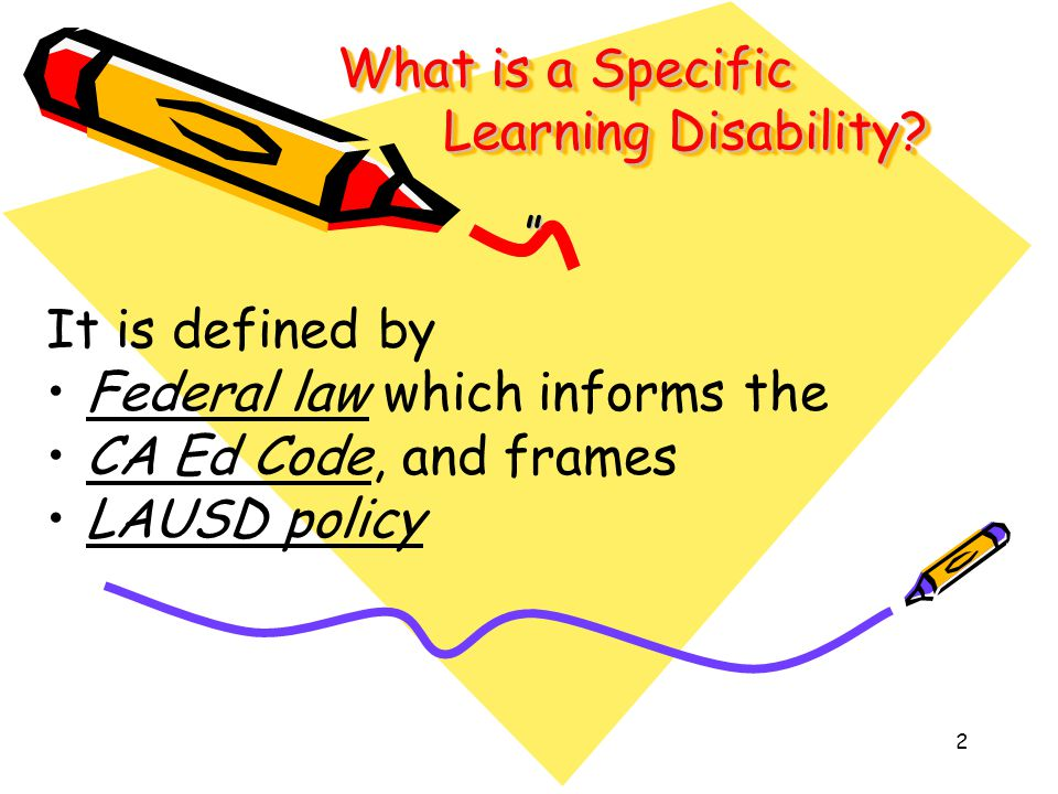 What is a Specific Learning Disability