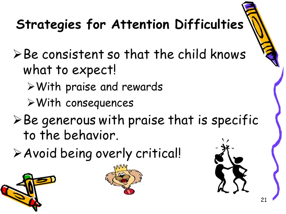Strategies for Attention Difficulties