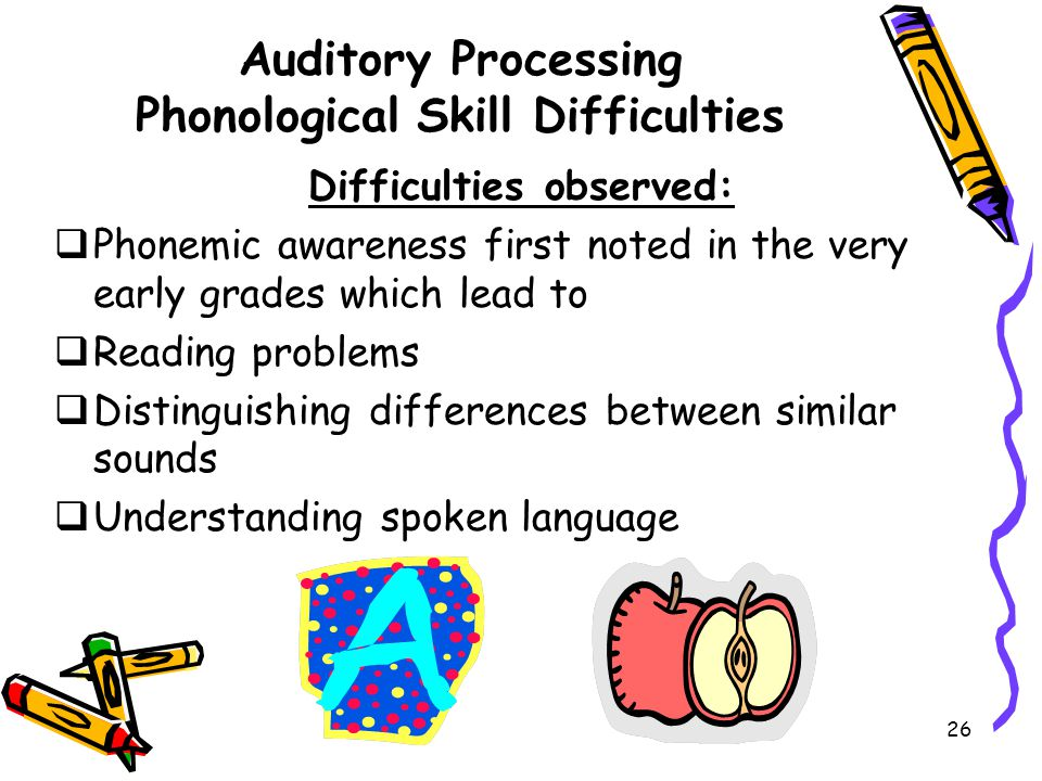 Auditory Processing Phonological Skill Difficulties