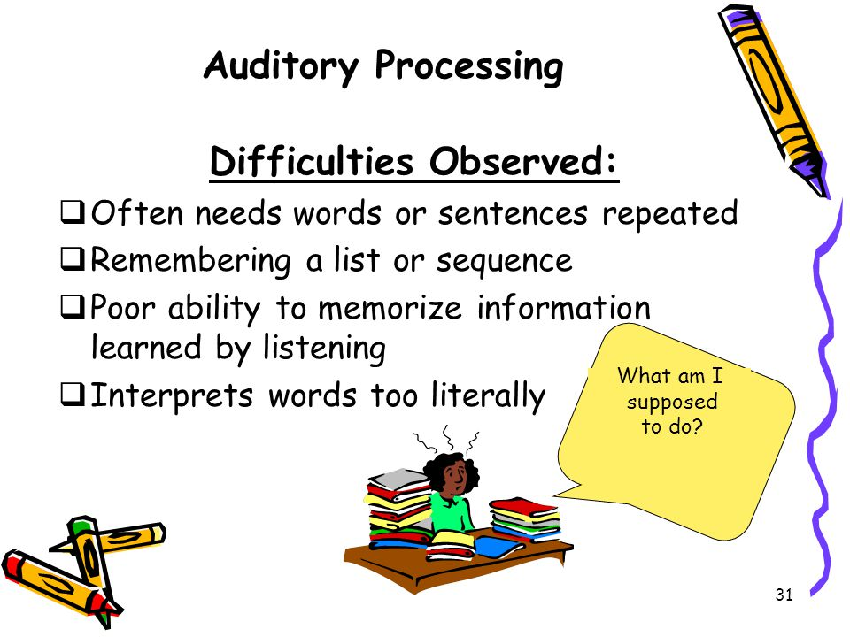 Difficulties Observed: