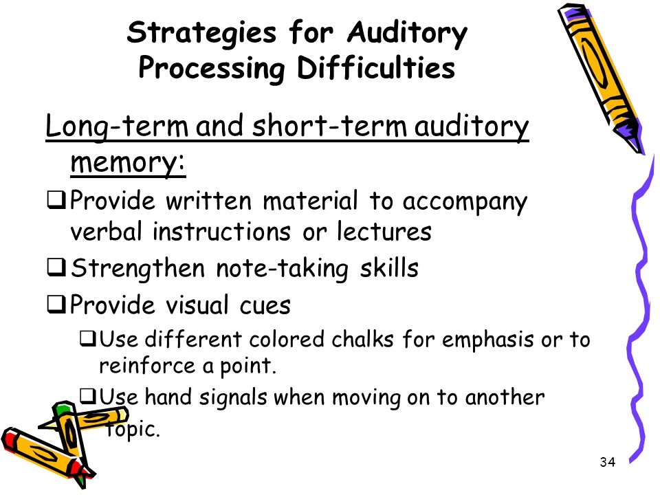 Strategies for Auditory Processing Difficulties