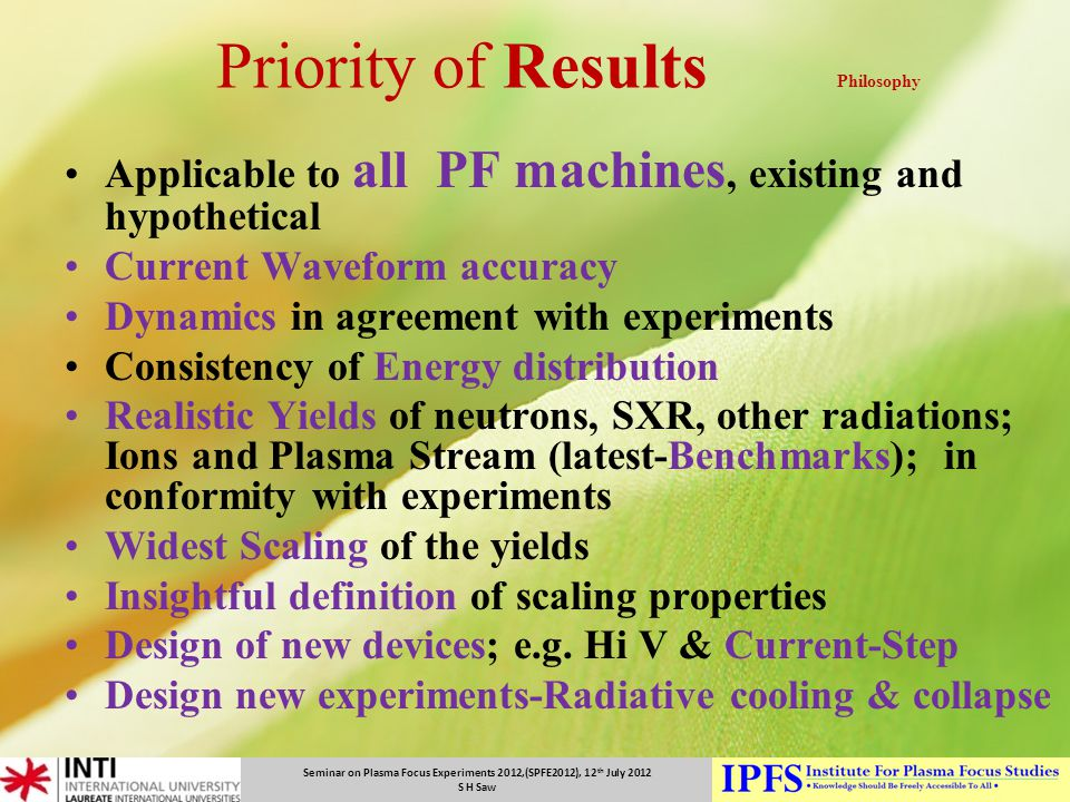 Priority of Results Philosophy