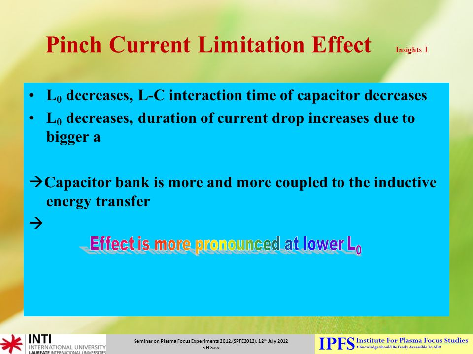 Pinch Current Limitation Effect Insights 1