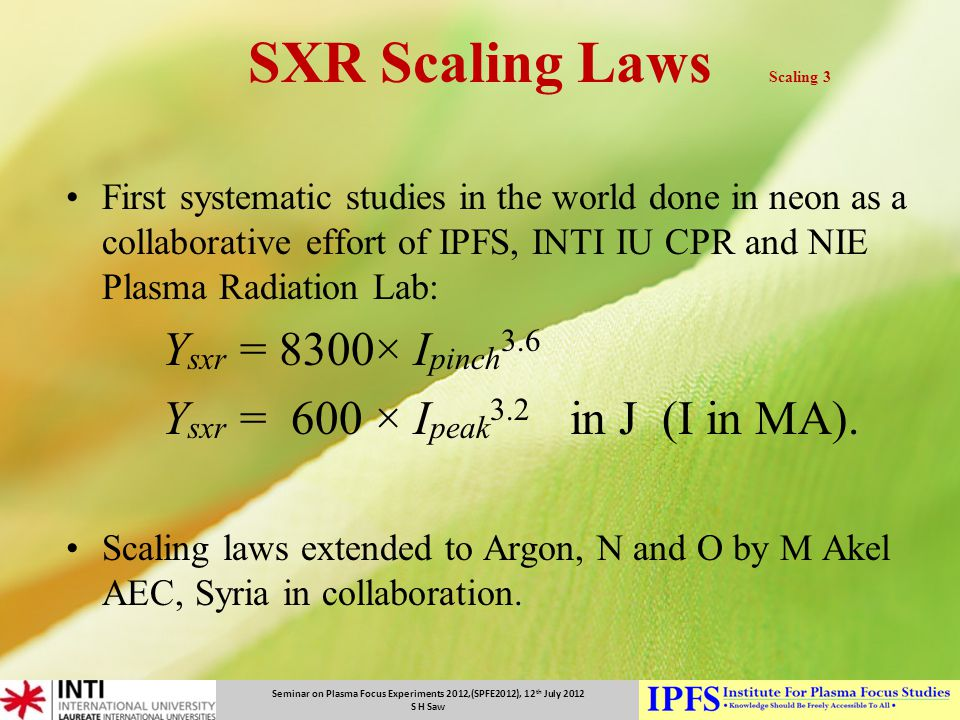 SXR Scaling Laws Scaling 3
