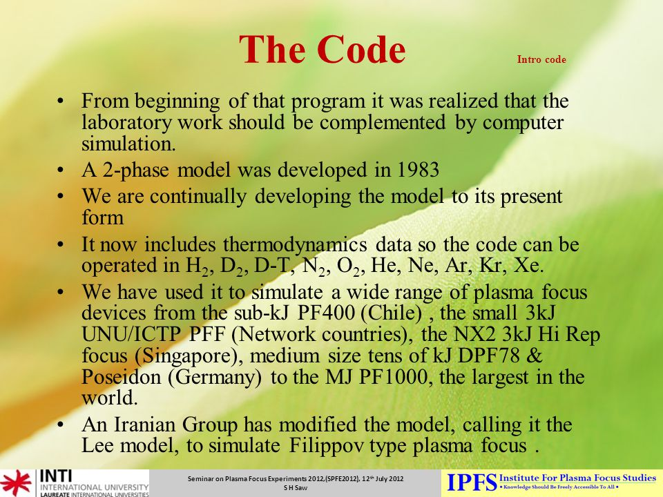 The Code Intro code From beginning of that program it was realized that the laboratory work should be complemented by computer simulation.