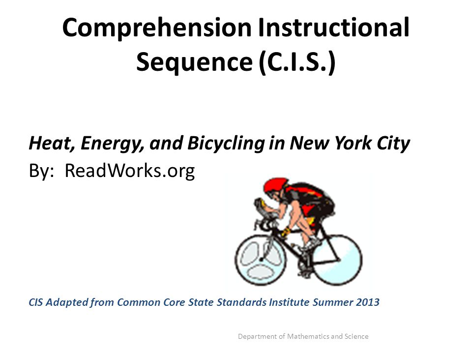 Comprehension Instructional Sequence (C.I.S.)