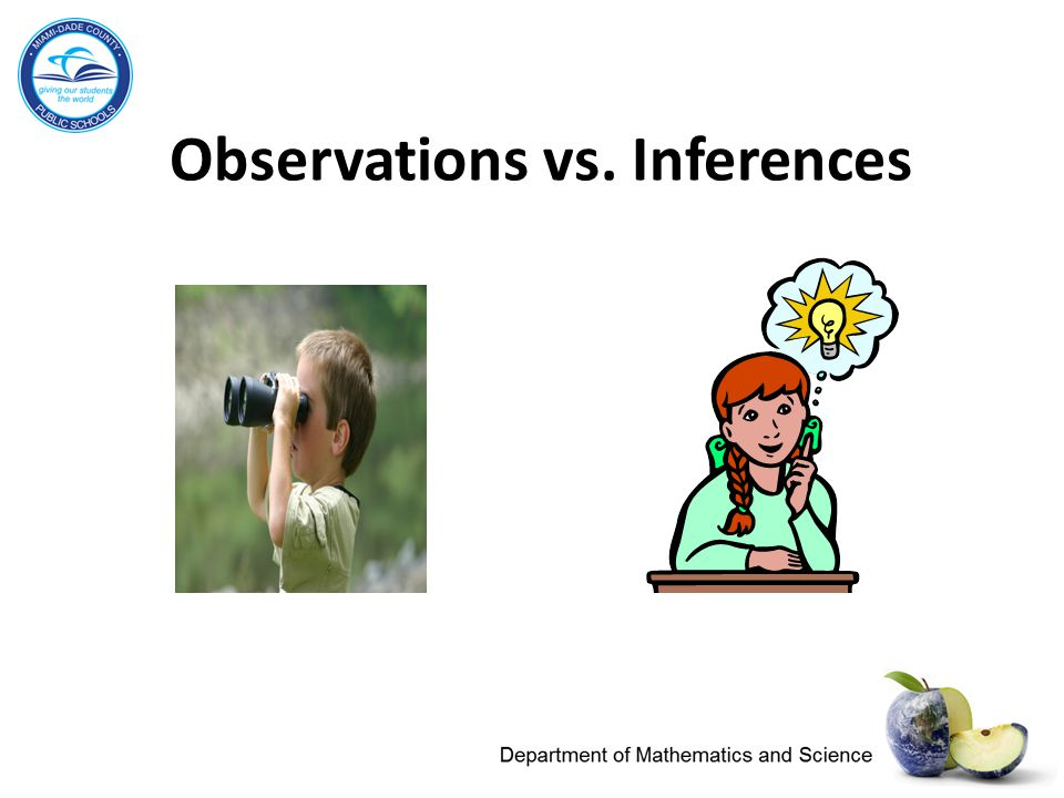 Observations vs. Inferences