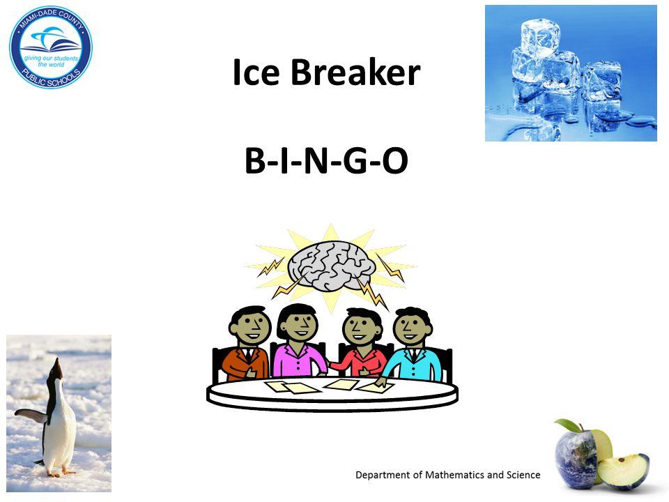 Ice Breaker B-I-N-G-O