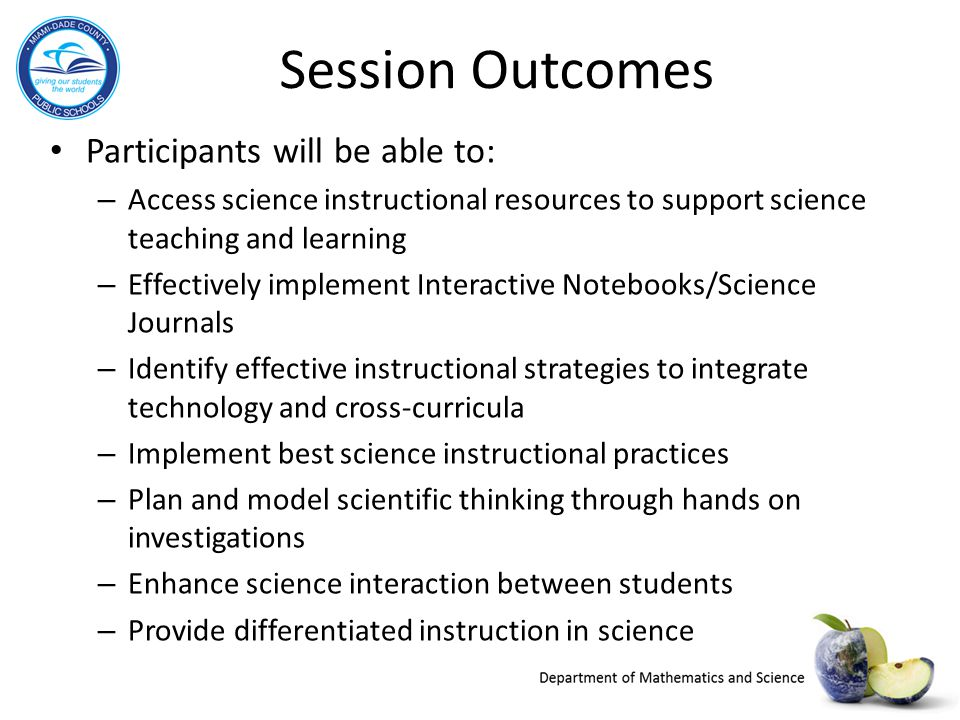 Session Outcomes Participants will be able to: