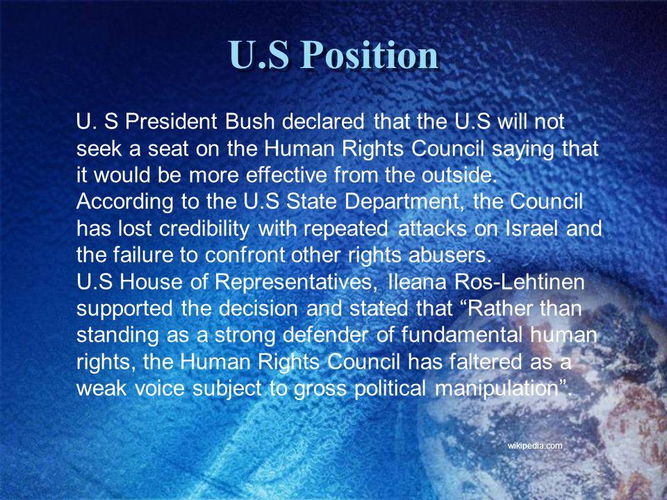 U.S Position