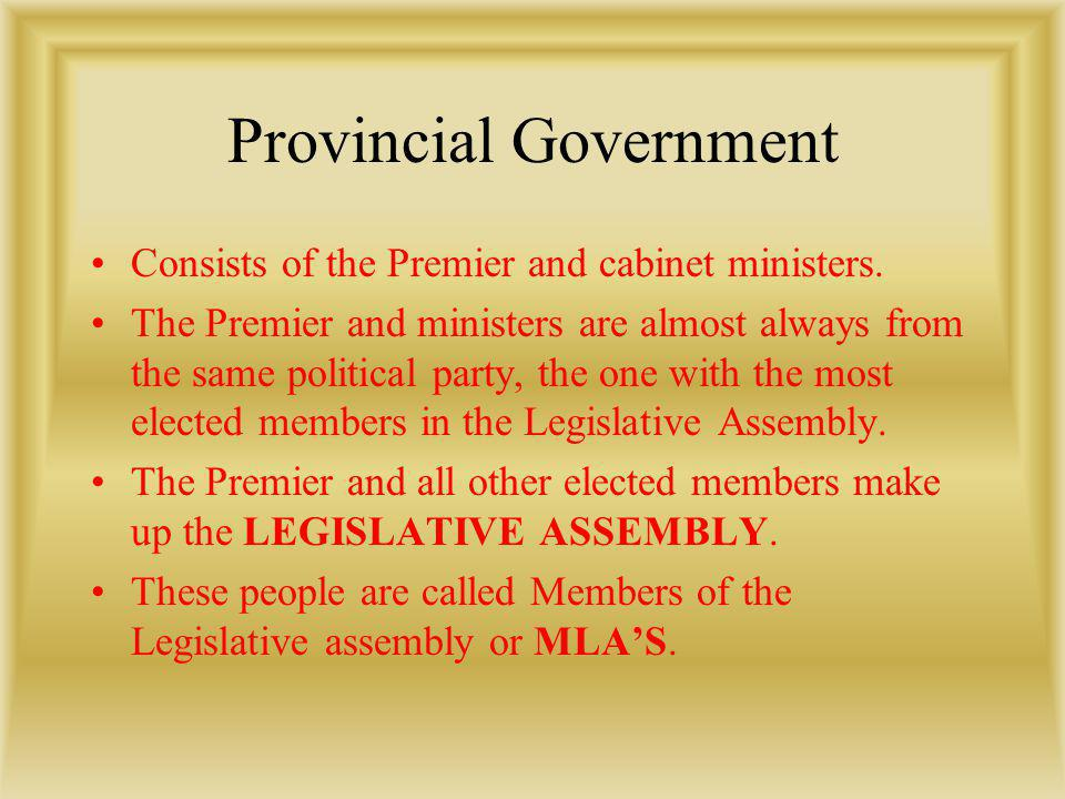 Provincial Government
