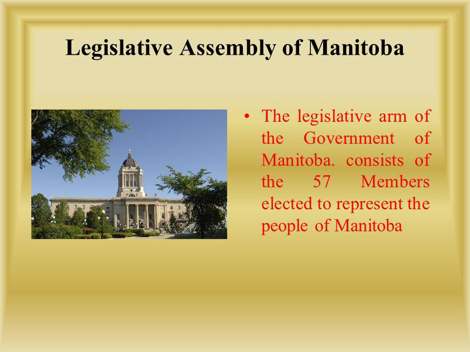 Legislative Assembly of Manitoba