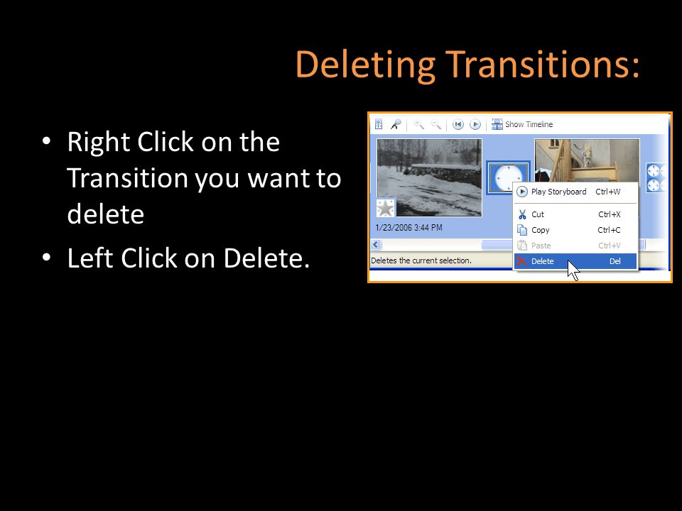 Deleting Transitions: