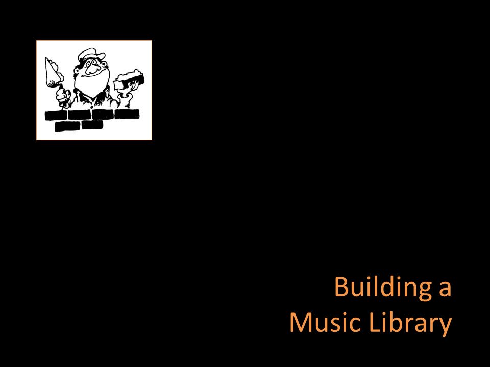 Building a Music Library
