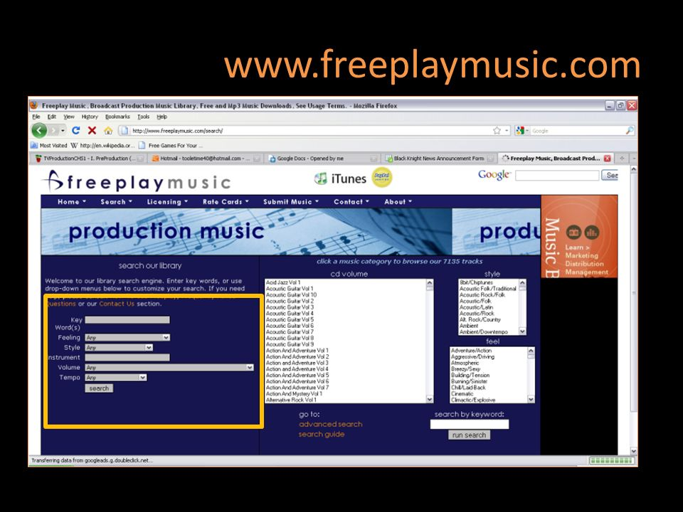 www.freeplaymusic.com Music, Video & Picture library 69