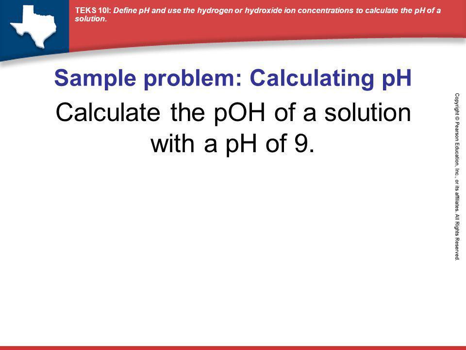 Sample problem: Calculating pH