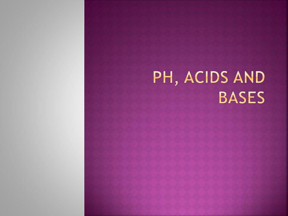 pH, Acids and Bases