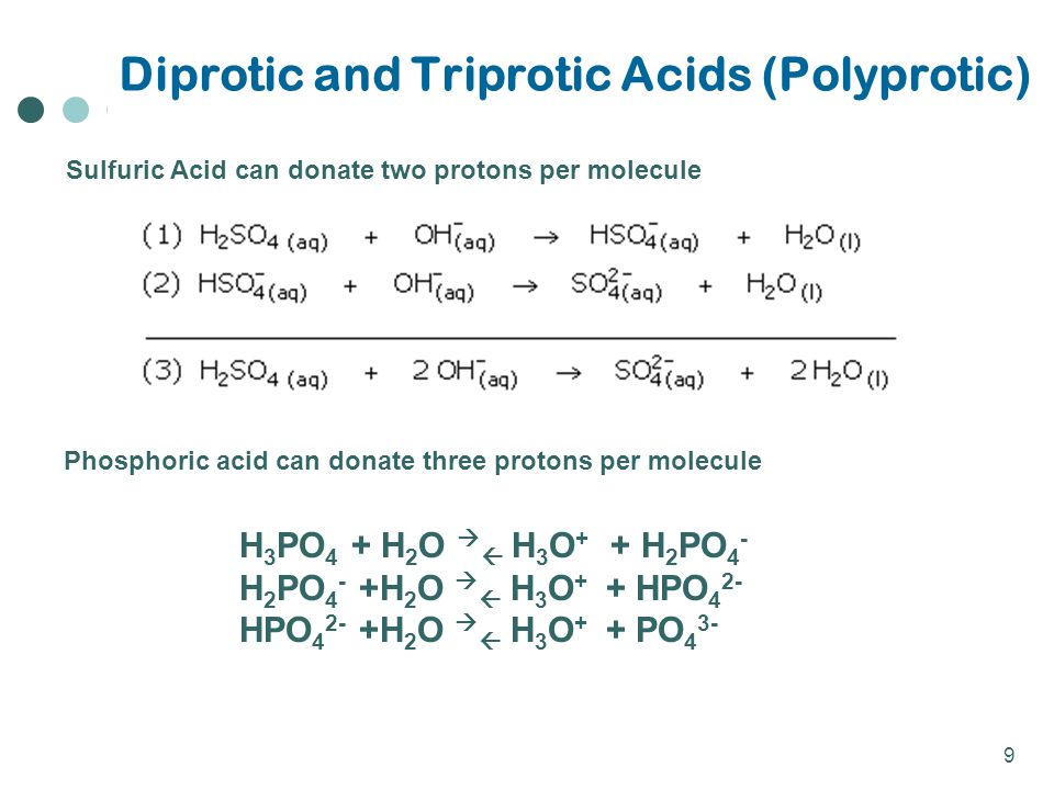 Diprotic and Triprotic Acids (Polyprotic)