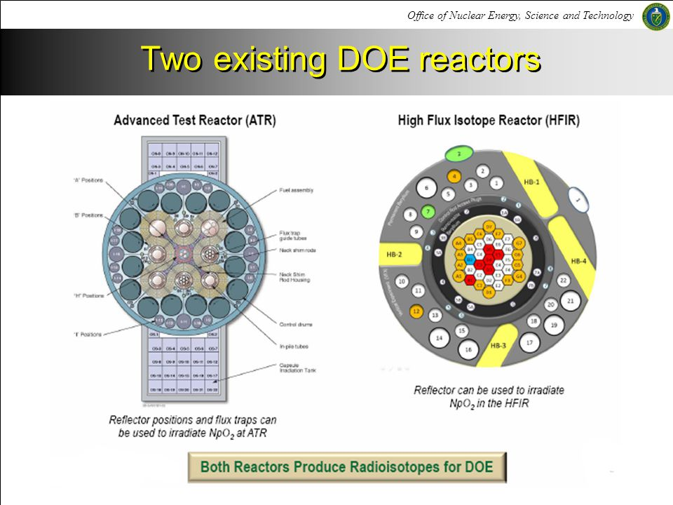 Two existing DOE reactors