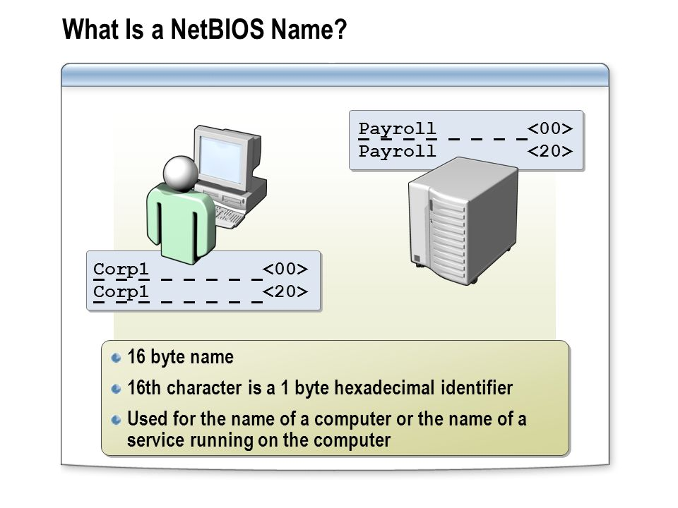 What Is a NetBIOS Name 16 byte name