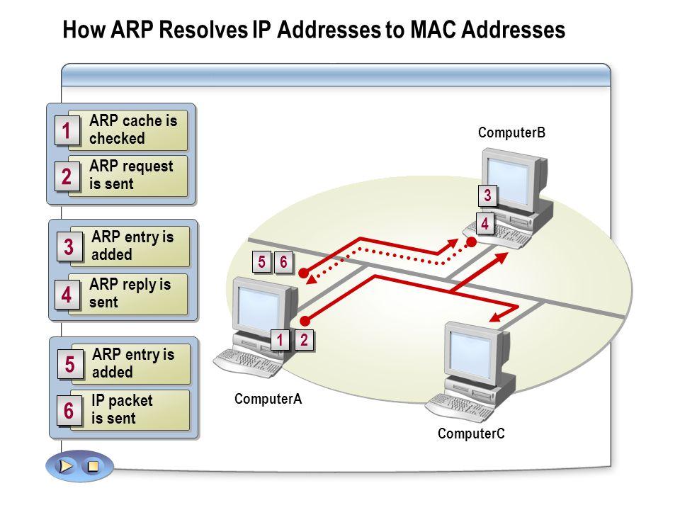How ARP Resolves IP Addresses to MAC Addresses