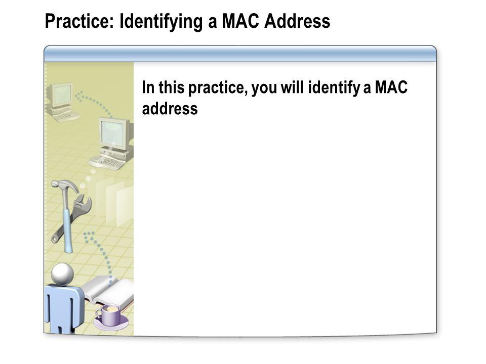 Practice: Identifying a MAC Address