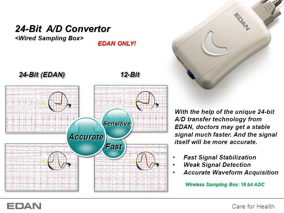 24-Bit A/D Convertor Accurate Fast 24-Bit (EDAN) 12-Bit